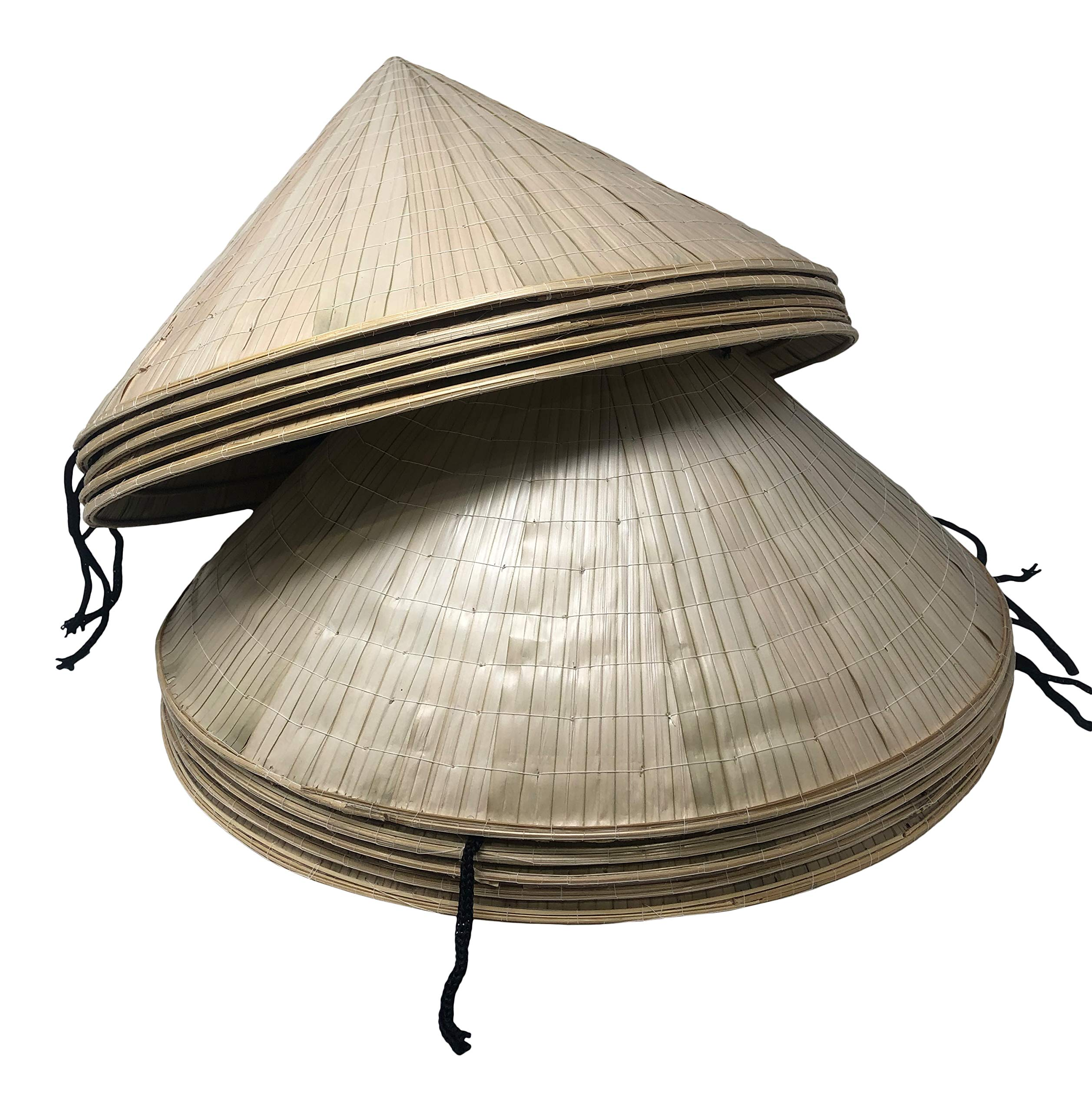 Chapeau Tribe Authentic Bamboo Deluxe Coolie Hat 10 Pack