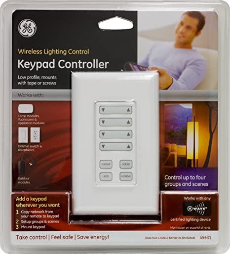 ge 45631 wave wireless lighting jasco ge 45631 zwave wireless keypad controller electrical outlet switches amazoncom