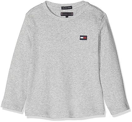 d4d0c1d5c317 Tommy Hilfiger Baby-Jungen Langarmshirt Essential Rib Knit L S, Grau (Grey