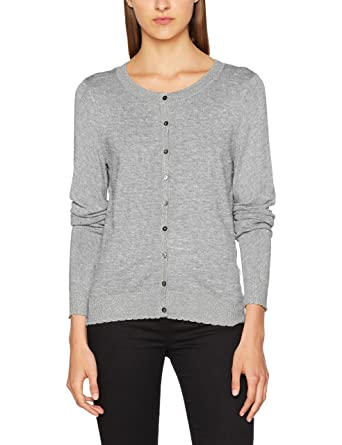 Vero Moda Women s Vmmontclair Ls O-Neck Cardigan (Light Grey Melange  Pattern Silver 0909cee8c0d2
