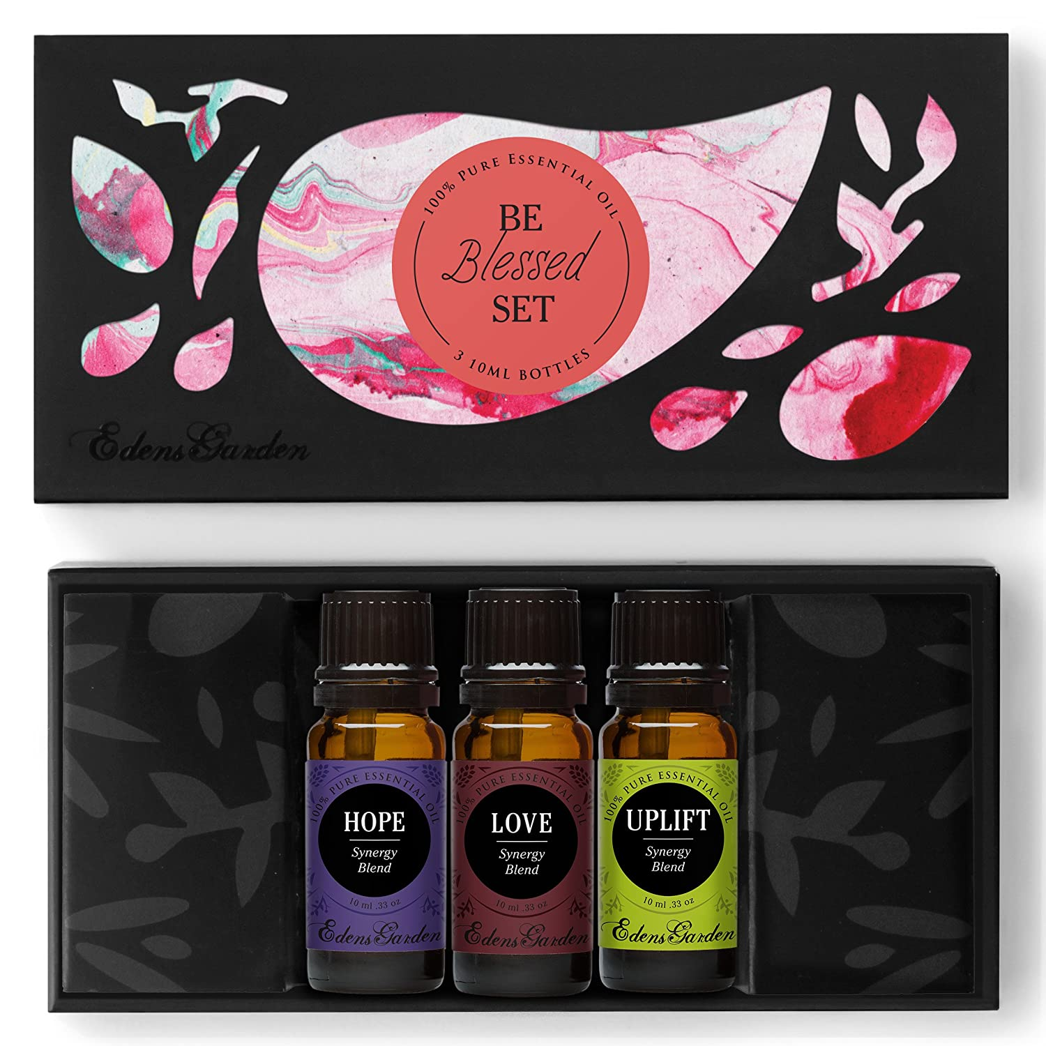 Be Blessed Essential Oil Set- 100% Pure Therapeutic Grade Aromatherapy Oils- 3/ 10 ml of Hope, Love, Uplift by Edens Garden by Edens Garden B00GBHQAGO