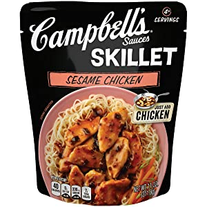 Campbell's Skillet Sauces, Sesame Chicken, 11 Ounce (Packaging May Vary)