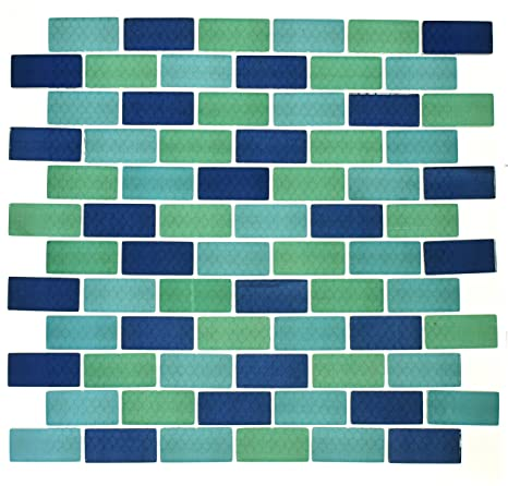 Amazon.com: WS Tiles: Swimming Pool Glass Mosaic Tile in 1 ...
