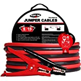 TOPDC Battery Jumper Cables 6 Gauge 16 Feet Heavy Duty Booster Cables with Carry Bag (6AWG x 16Ft)