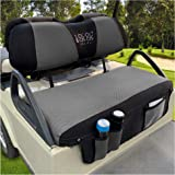 10L0L Newest Golf Cart Seat Cover Set with Storage Bags Fit for EZGO TXT RXV & Club Car DS, Keep Warm Bench Seat Covers Breat