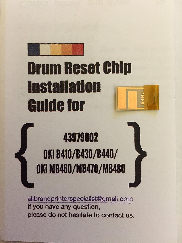 B4H0 SNGL] Super Easy Drum Reset Chip for Oki 43979002 Drum Unit ...