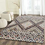 Carpet Craft Modern Collection Color Multi 5 feet x 8 feet Handmade Wool Carpets for Living Room -Bedroom-Drawing Room-Floor-Dining Hall