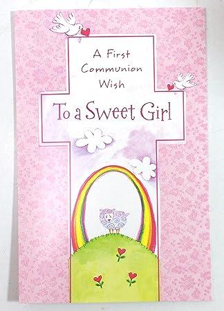 Amazon.com: Tarjetas de Comunión para niña (a primera ...