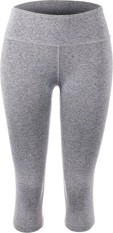 BEKDO Womens Capri Legging for Performance Workout Tights Yoga Gym Pants