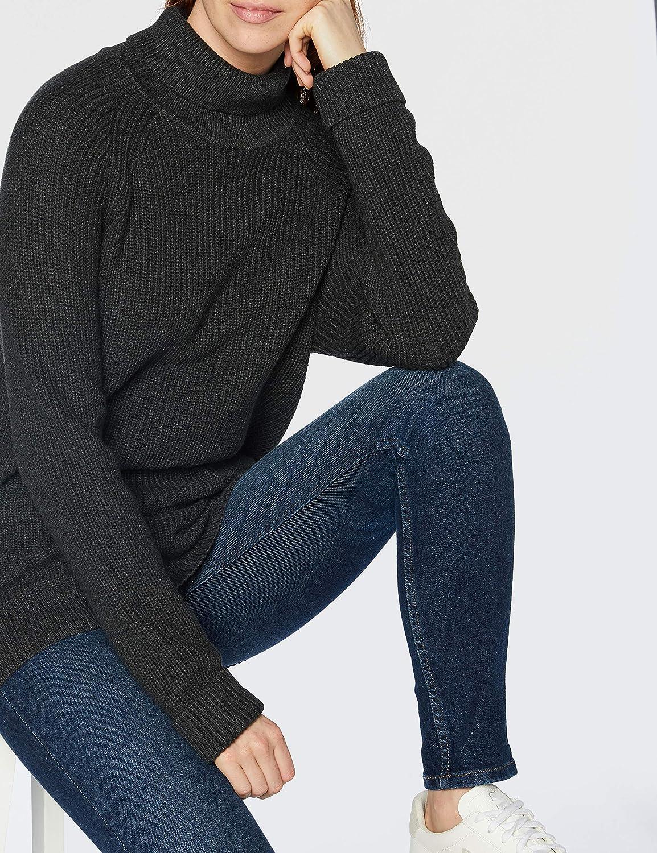 Morgan Pull Zipp/és Robe Tricot Droite D/étail Zip Rmkujo Noir TXL Femme