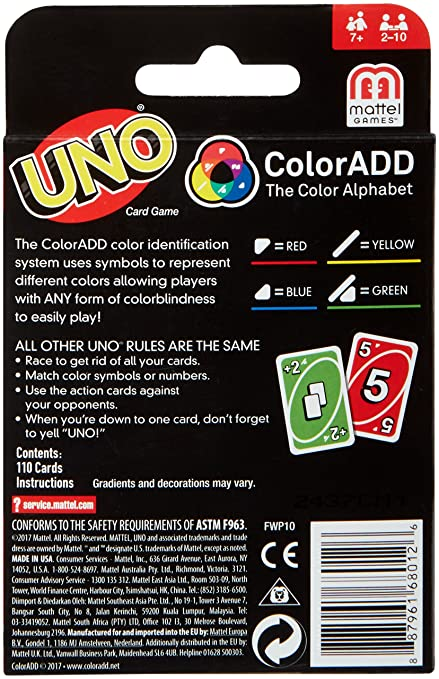 Amazon Mattel Games Uno Coloradd Game Toys Games