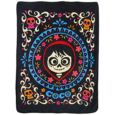"Disney's Coco, ""Miguel"" Micro Raschel Throw Blanket, 46"" x 60"", Multi Color: Home & Kitchen"