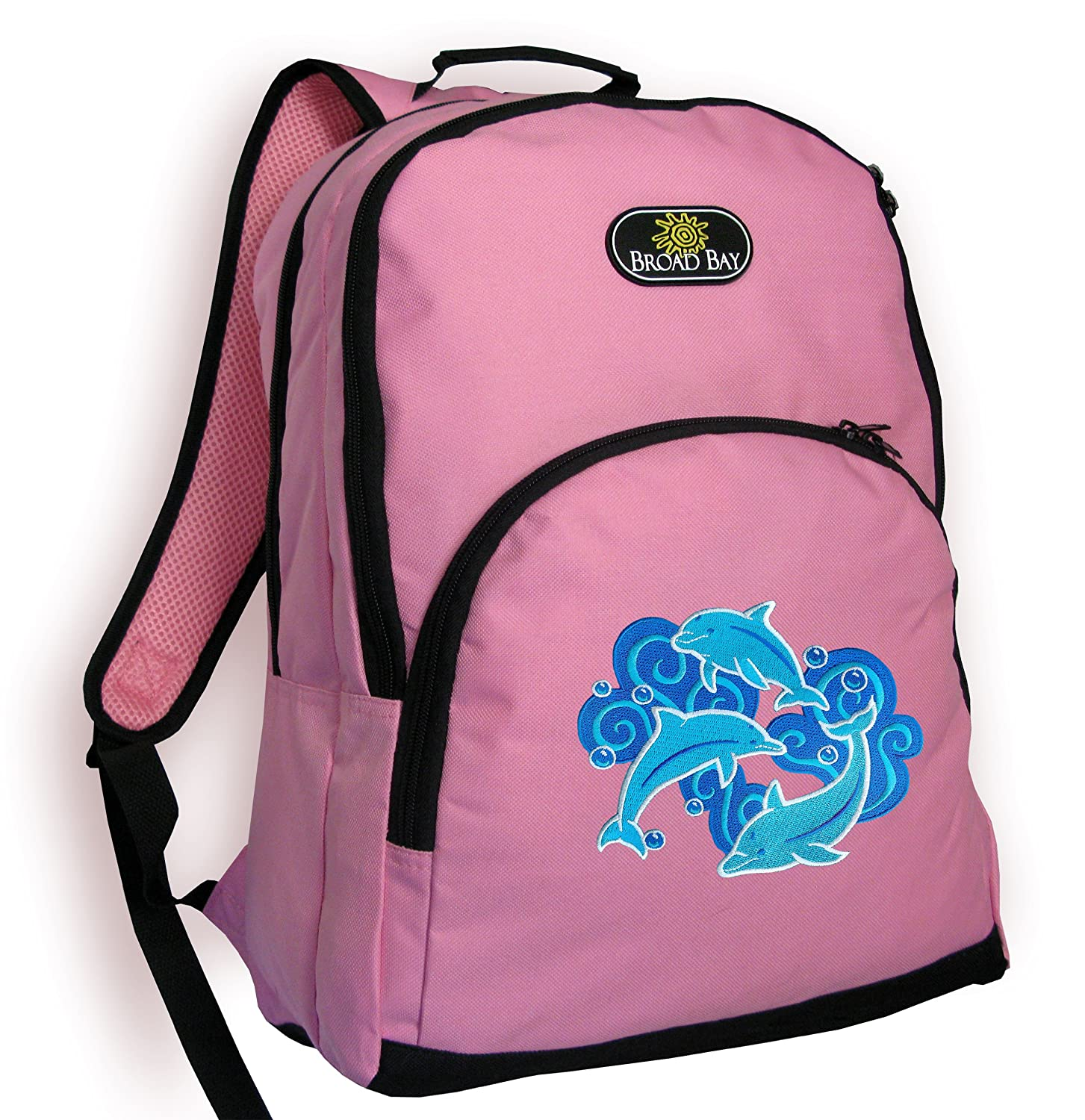 Amazon.com | DOLPHIN Backpack CUTE PINK Dolphins School Bag ...