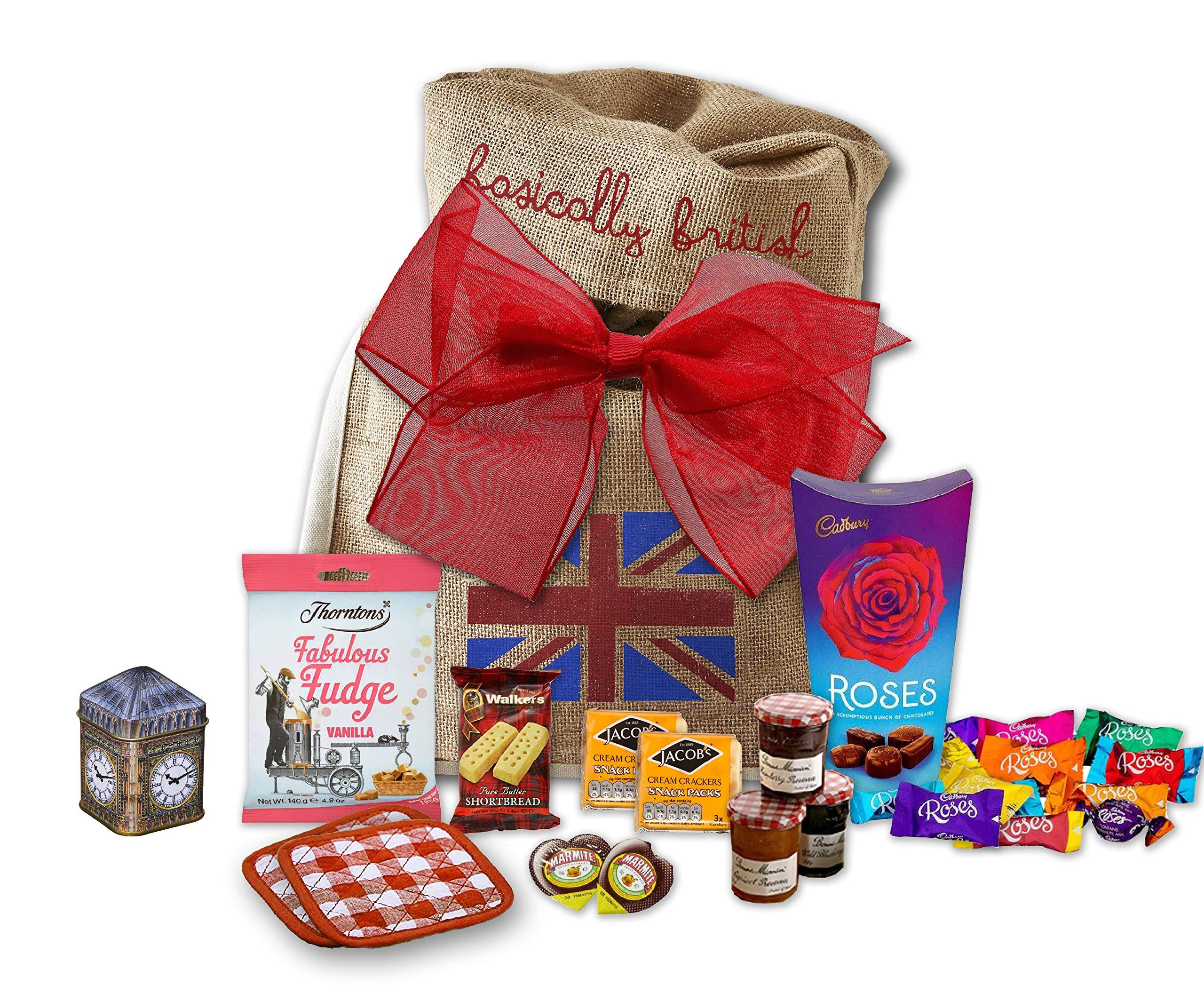 The Great British Tea Hamper | British Tea Gift Set British Gifts | Big Ben New English Tea Tin Coasters in Basically British Gift Bag
