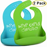 Amazon Price History for:Silicone Bib With Pocket For Baby & Toddlers, Food / Crumbs Catcher, Stain Resistant Baby Bibs Set For Boys & Girls That's Waterproof, Easy Wipe & BPA-Free (Baby Gift Set)