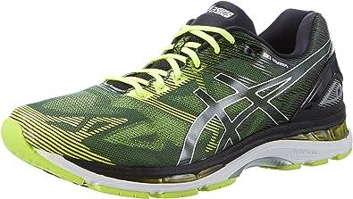 Asics T700n9007 - Zapatillas para correr para hombre, Negro (Black / Safety Yellow / Silver), 40 EU: Amazon.es: Zapatos y complementos