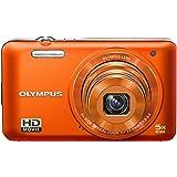 Olympus VG-160 Digitalkamera (14 Megapixel, 5-fach opt. Zoom, 7,6 cm (3 Zoll) Display, bildstabilisiert) orange
