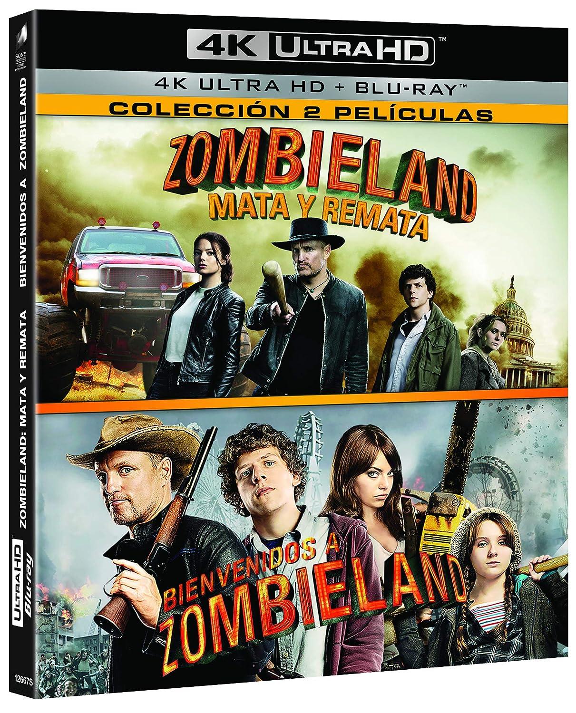 Pack: Zombieland 1 + Zombieland 2 4K Ultra HD + BD Blu-ray: Amazon.es: Jesse Eisenberg, Woody Harrelson, Emma Stone, Abigail Breslin, Ruben Fleischer, Jesse Eisenberg, Woody Harrelson, 2.0 Entertainment, Columbia Pictures, Pariah,