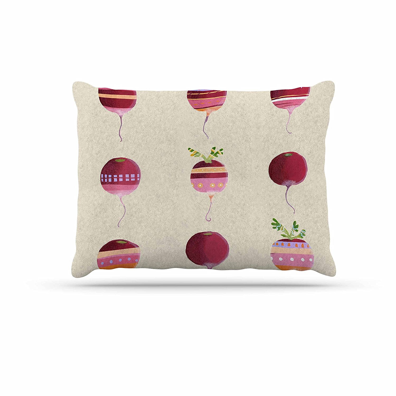 KESS InHouse Judith Loske Happy Radishes Ped Pink Dog Bed, 30  x 40