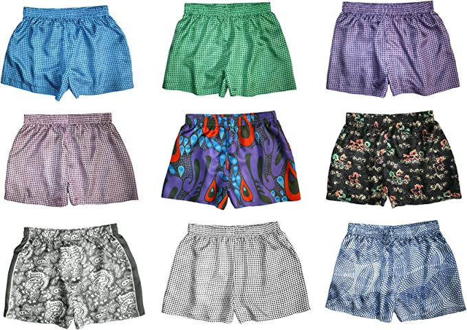 XS-XXL Silk Boxers Set Assorted 3-Pack Silk Boxer Shorts for Women