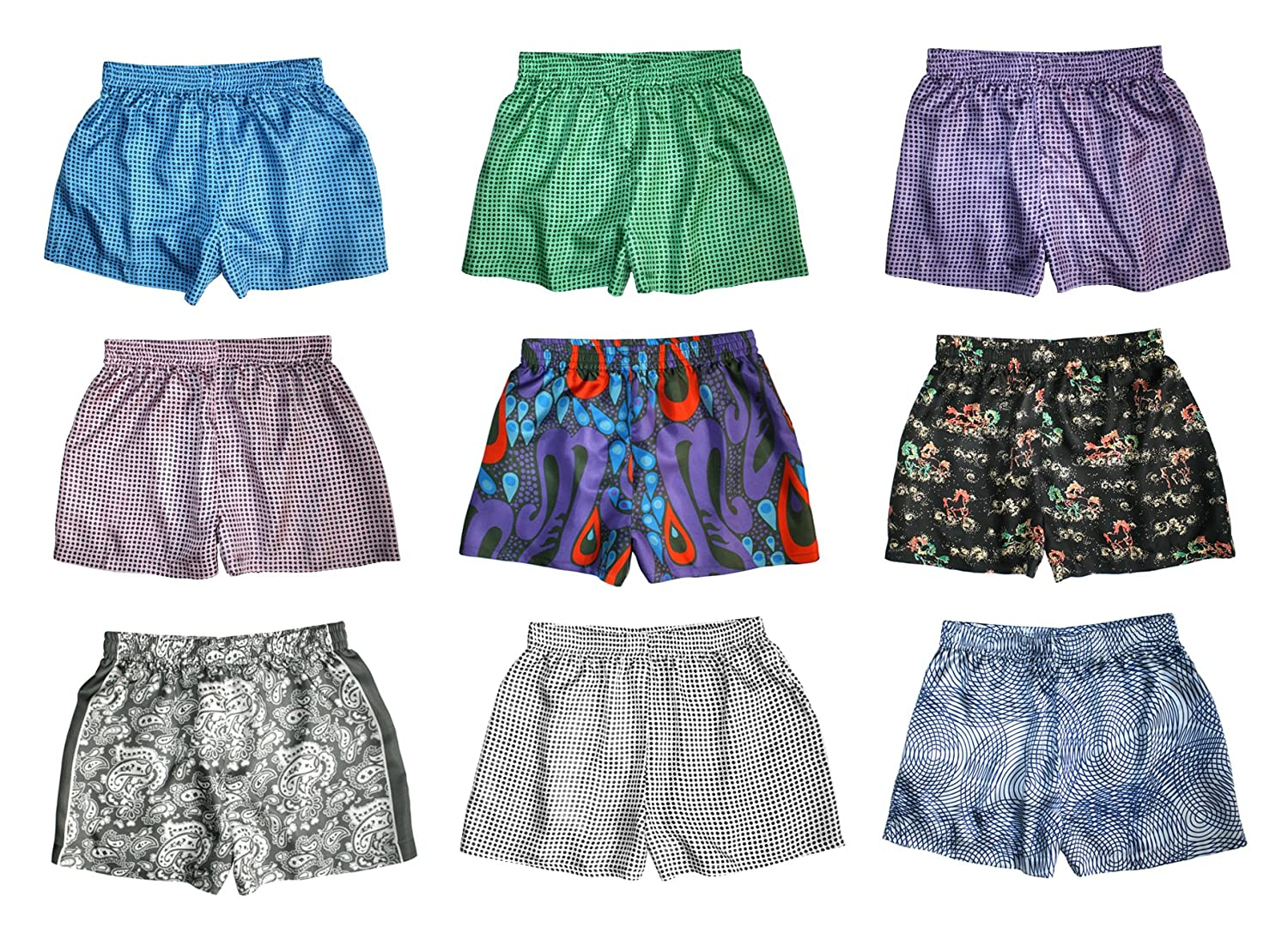 Silk Boxer Shorts for Women - Assorted 3-Pack - XS-XXL - Silk Boxers Set