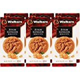 Walkers Shortbread Stem Ginger Scottish Cookies, 5.3 Ounce Box (Count of 6)
