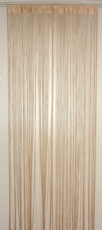 HomeMaison HM69807870 Rideau /à Fils Spaghetti Beige