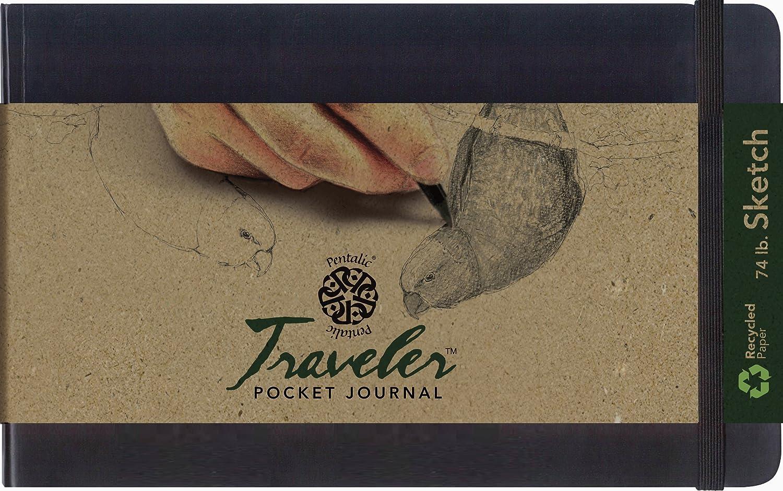 Pentalic Art Skizzenbuch für Reisende, gepunktet, säurefrei, Schwarz, 5-inch x x x 8-inch, schwarz B06Y2JNLGJ | Qualität Produkt  | Qualität  | Shop  717a25