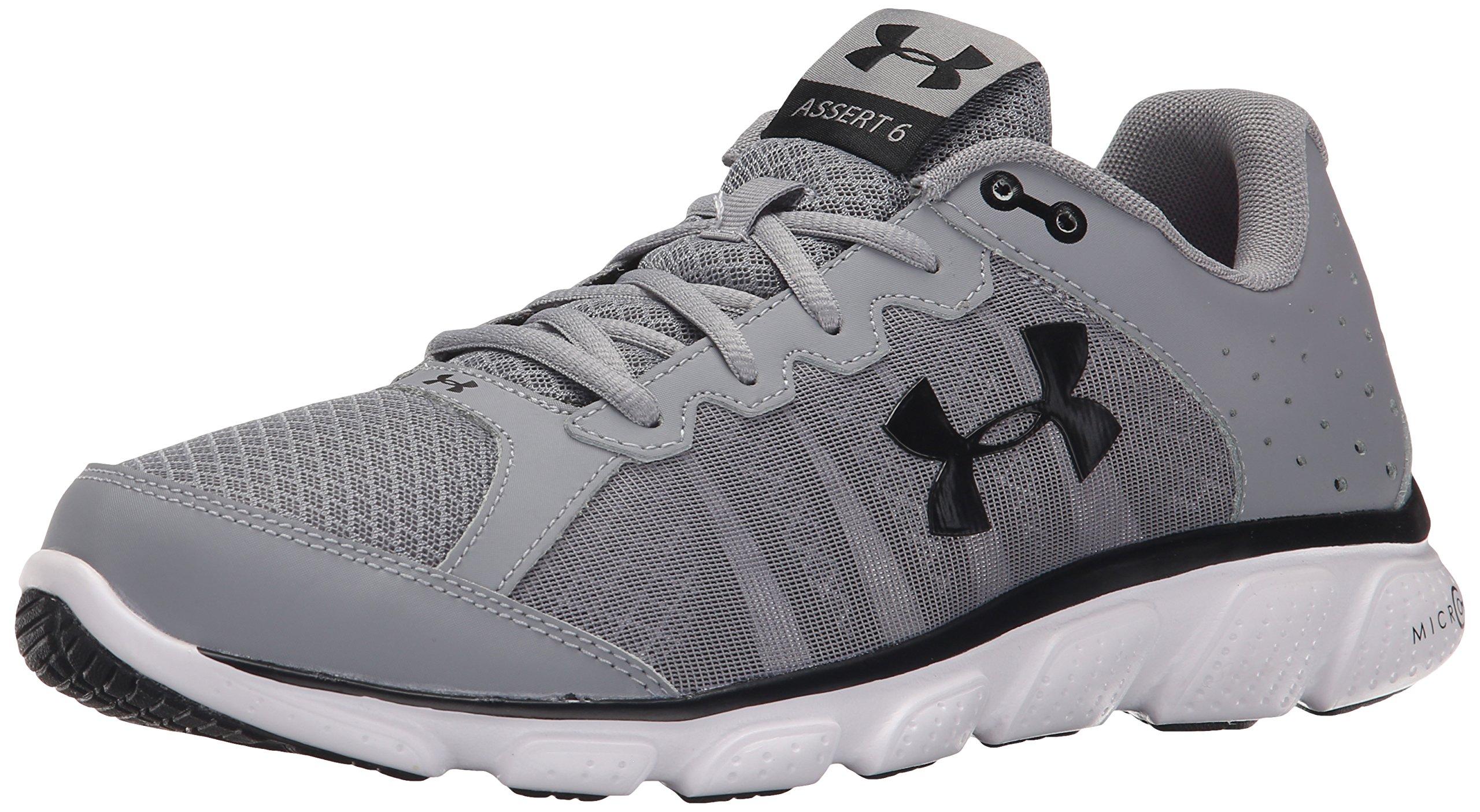Under Armour Men's Micro G Assert 6 Running Shoe Steel (036)/White 7.5