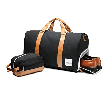 Amazon.com | Weekend Travel Bag & Toiletry Set - Duffel Bag For ...