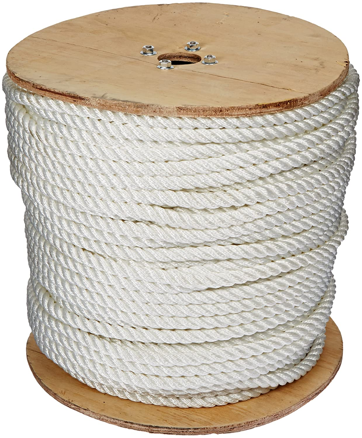 Indusco 72100491 Nylon Synthetic Rope Roll, 3 Strands, 5/8\