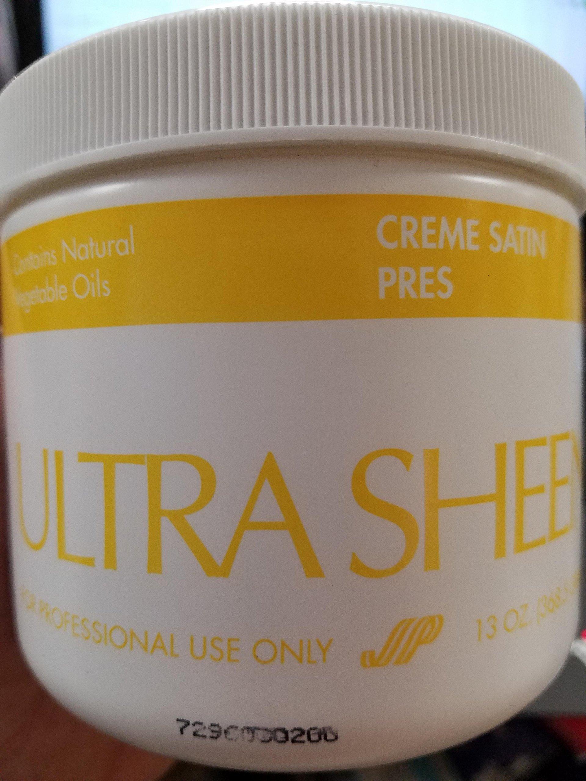 ultra sheen creme satin press 13 oz