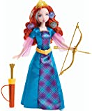 Disney Princess Toy - Colourful Curls Merida Deluxe Doll with Bow