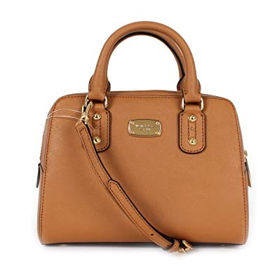 9f2ff33b32 MICHAEL Michael Kors Saffiano Leather Small Satchel Acorn  Handbags   Amazon.com