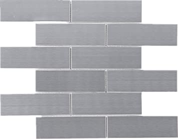 Tsslg 02 2 X 6 Stainless Steel Brick Subway Metal Mosaic Tile