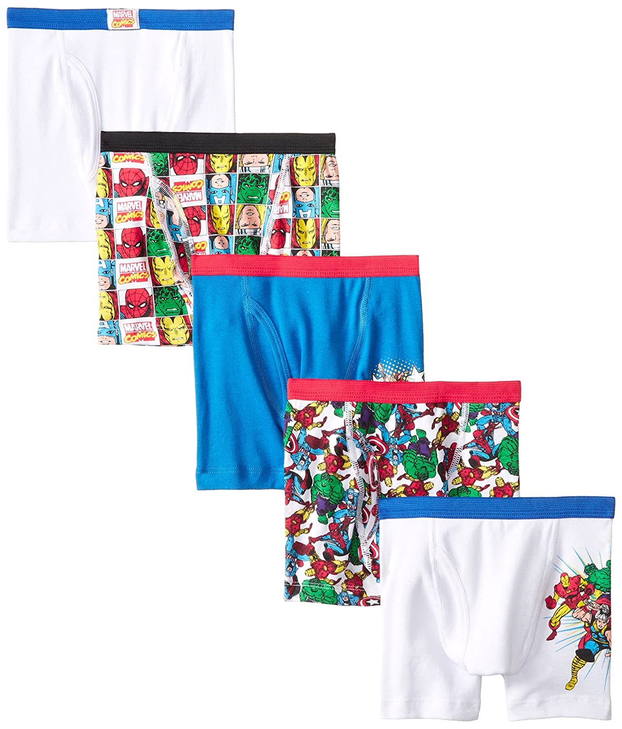 Marvel Boys 5-Pack Boxer Brief Handcraft Boys 2-7 BBP5235