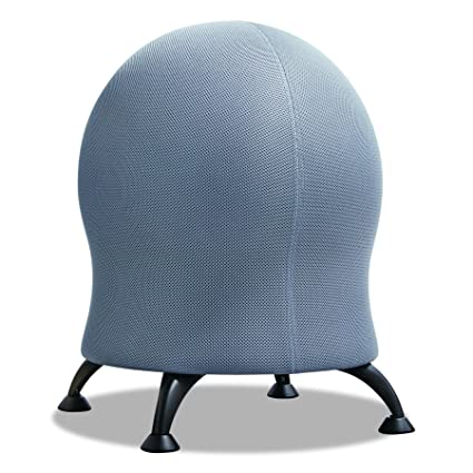 amazon com safco products 4750gr zenergy ball chair gray black