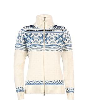 Dale de Noruega haukeli chaqueta, mujer, color Off White/Blue Shadow/Navy