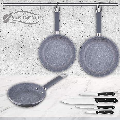 San Ignacio Premium SIP Set 3 sartenes + 4 Cuchillos ...