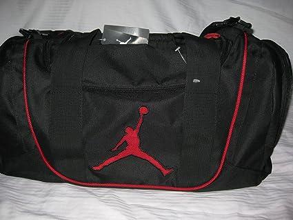 Nike Jordan Jumpman 23 Petate Negro Rojo Gimnasio Viajes ...