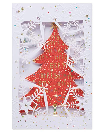 Christmas Card Greetings.American Greetings Believing And Remembering Christmas Card With Foil