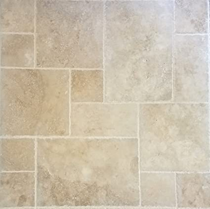 Amazon SAMPLE Travertine Tile Versailles Pattern Walnut Magnificent Versailles Pattern