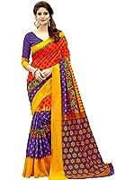 Glory Sarees Women's Silk Cotton Saree(zarna07_red_blue)