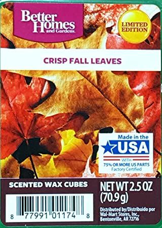 Amazon.Com: Better Homes And Gardens Crisp Fall Leaves Wax Cubes