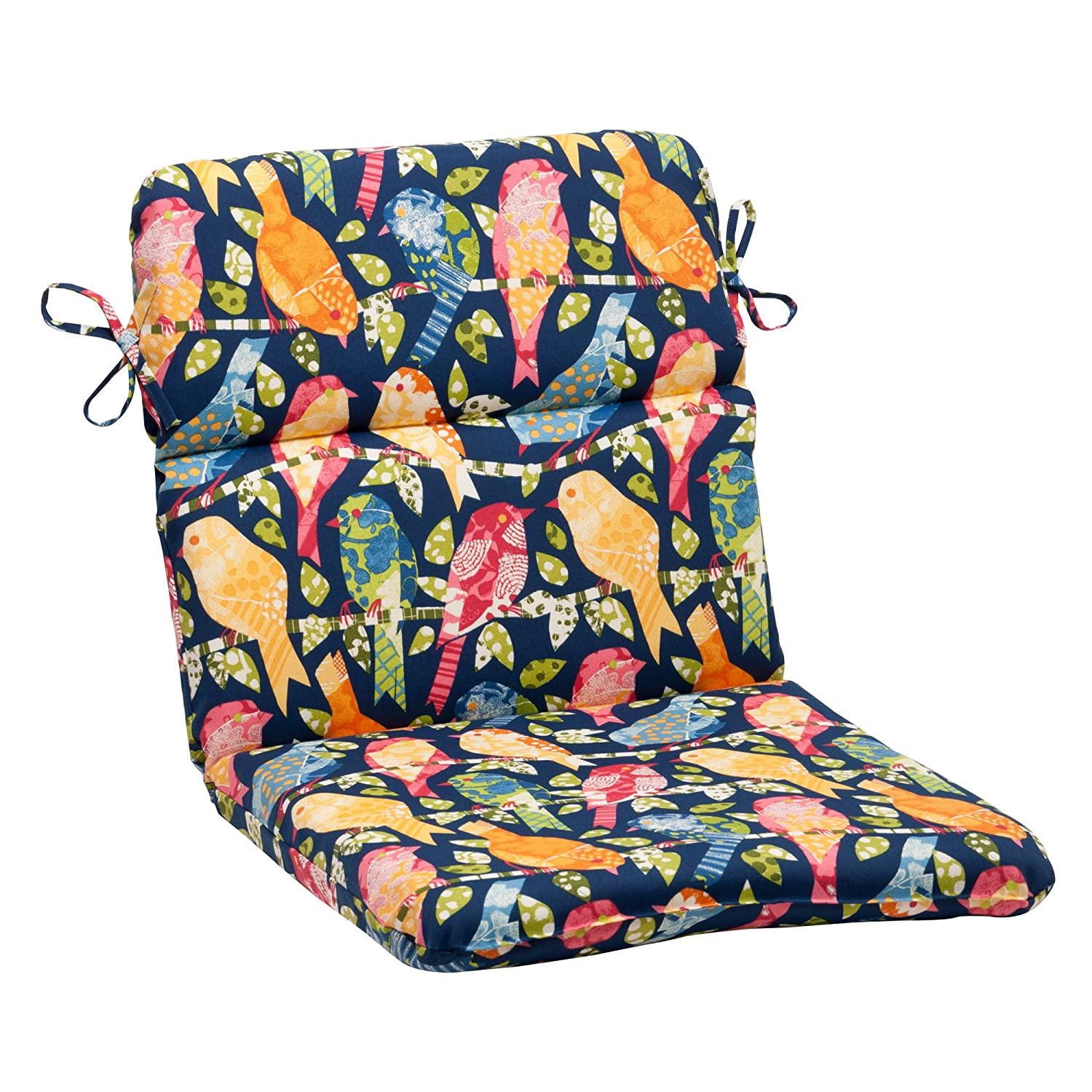 Pillow Perfect Outdoor Ash Hill Rounded Chair Cushion, Navy