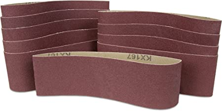 WEN 6307SP120 120-Grit 1//2 x 18 Sanding Belt Sandpaper 10 Pack