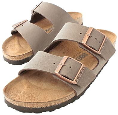 63a0f7209 Birkenstock Arizona Mocha Birko-Flor 'Narrow Fit' Women's Sandals (7-7.5