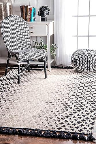 nuLOOM Renna Reversible Tassel Wool Rug, 6 x 9 , Ivory