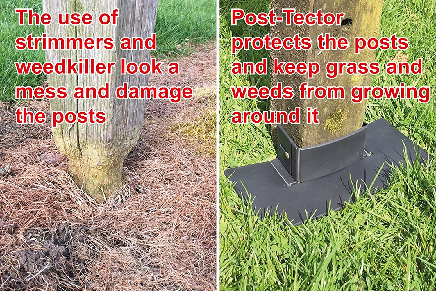 Free UK Postage Fits 3 or 4 Post X8146 Grass /& Weed Control Maintenance Proops 5x Post-Tector Fence Post Saver Protector Guard Shields