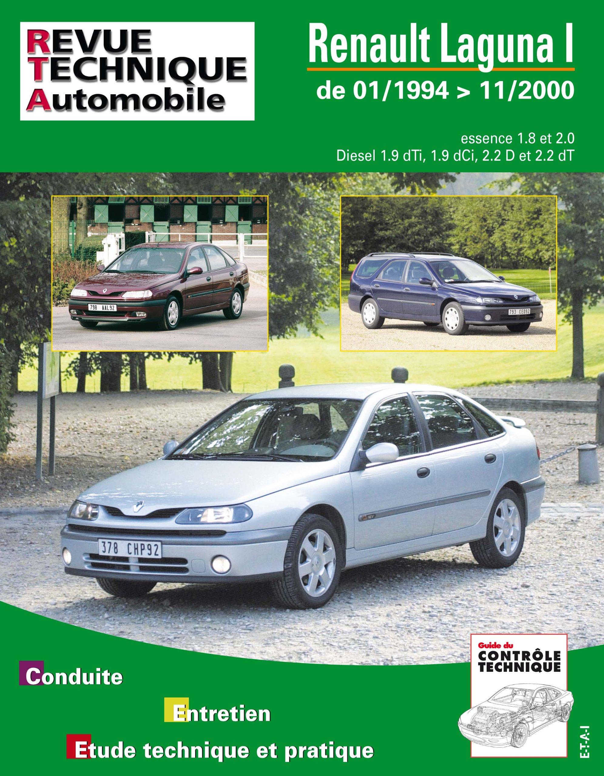 Amazon.com: Rta 123.1 Renault Laguna Phase 1 et 2 Es/Diesel ...